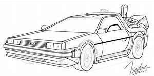 DeLorean - Sketch - WIP by Nickcs on DeviantArt