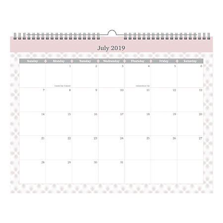 office depot brand monthly academic wall calendar soft stripes