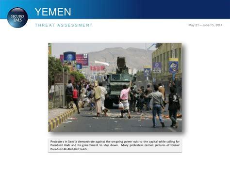 Sicuroims Yemen Threat Assessment 21 May