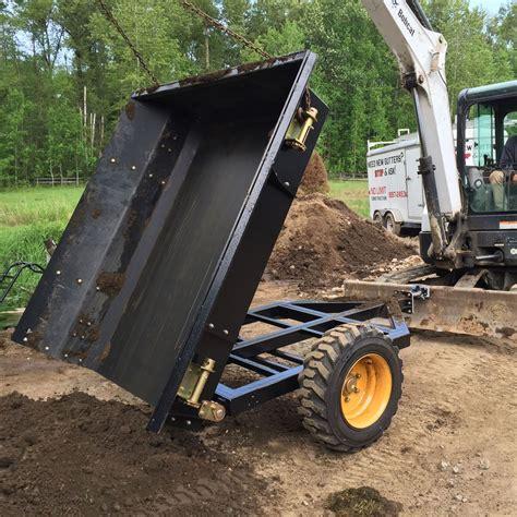 dump trailer  mini excavator blade petite remorque equipement lourd mini pelle