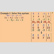 Solving Linear Systems Using Matricesmp4 Youtube