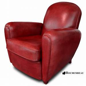 Fauteuil Cuir Rouge : fauteuil club cardiff fauteuil club en cuir basane rochembeau ~ Teatrodelosmanantiales.com Idées de Décoration