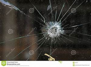 Bullet Hole In Glass Stock Image - Image: 44121