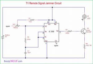 Tv Remote Signal Jammer Circuit
