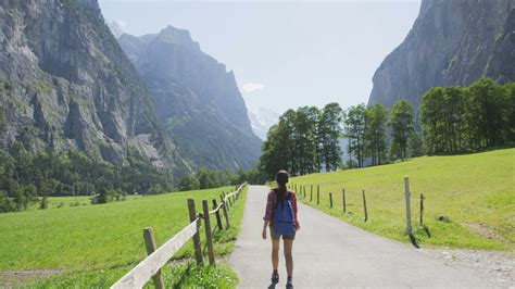 Direction Signs Alpine Hikes Alps Switzerland Stock Photo Walking In Switzerland Alps Hiker Tourist