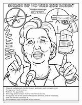 Coloring Clinton Hillary Violent Comic Template Popular Coloringbook sketch template