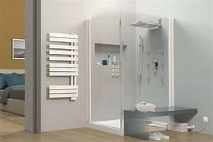 la necessite davoir une douche dans sa maison With porte de douche coulissante avec enceinte salle de bain sans fil