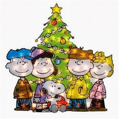 Snoopy Peanuts Gang Charlie Tree Brown Lighted
