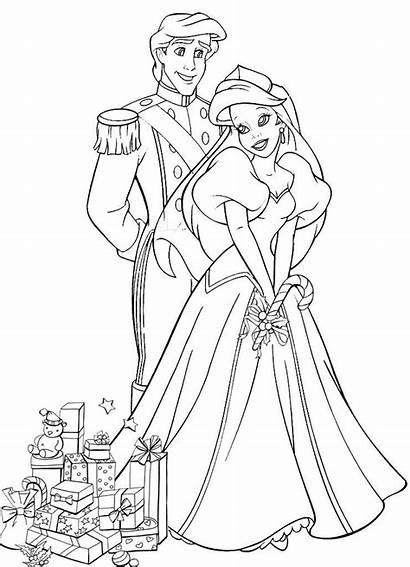 Coloring Pages Disney Princess Ariel Popular