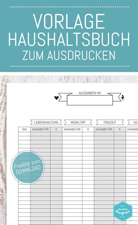 haushaltsbuch vorlage zum  und ausdrucken auf www