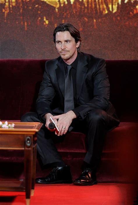 Christian Bale Black Suit Love