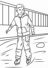 Coloring Ice Boy Skater Skating Pages Drawing Printable Getdrawings Categories sketch template
