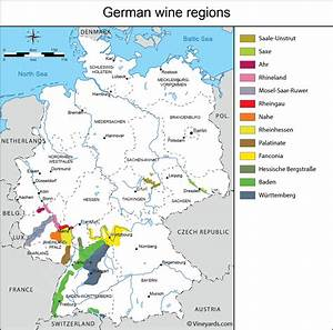 Germany Map of Vineyards Wine Regions