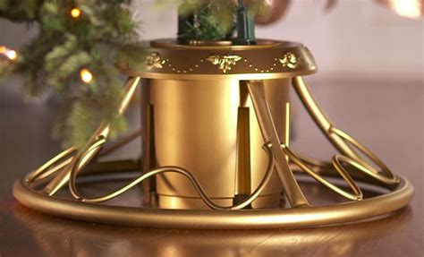 home heritage metal rotating tree stand with adaptors rotating tree stand the green