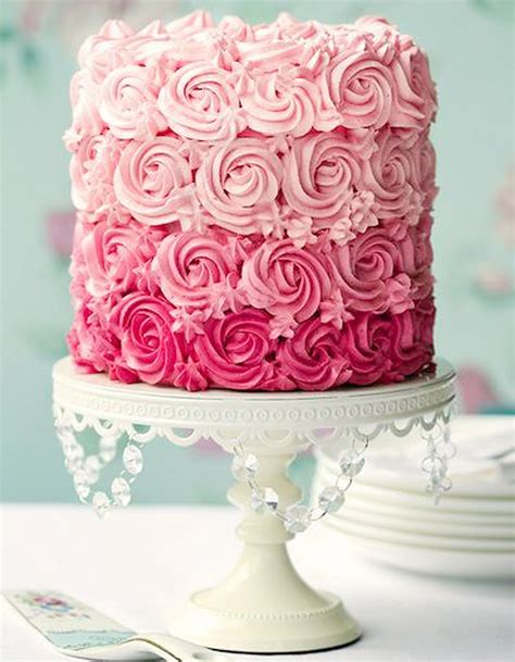 rose cake ombre rose cake  gateaux de reve reperes