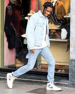 ASAP Rocky Wears Guess Jacket, Gucci Jeans and Air Jordan ...