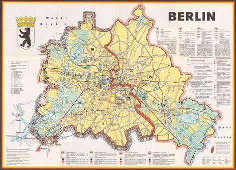 berlin  cold war map  map berlin germany