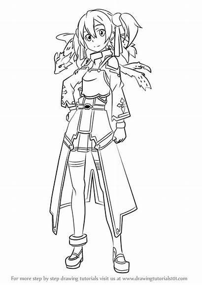Sword Draw Silica Step Drawing Swords Anime