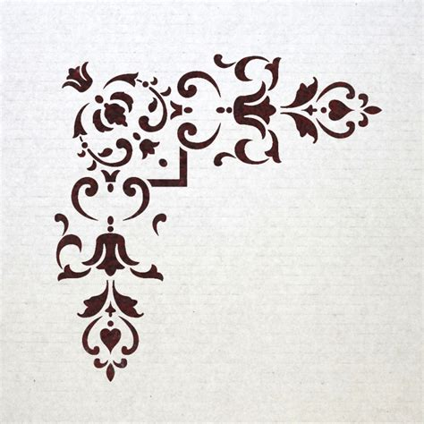 Templates For Stencils by Corner Stencil Reusable Template 012 For Wall Diy Decor