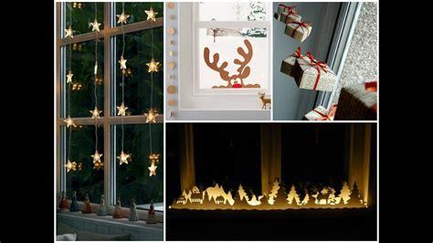diy christmas window decorating ideas simple window decorations