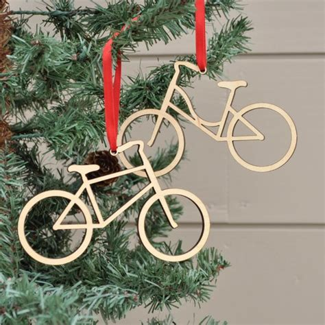 Bike Ornament Wooden Bicycle Christmas Ornament Boy Or Girl