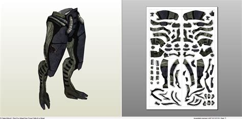 Papercraft Pdo File Template For Mass Effect 3 Legion