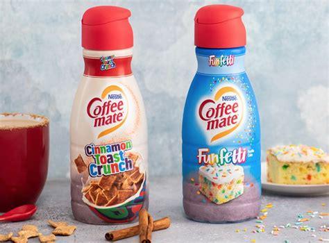 Store coffee mate liquid coffee creamers in the refrigerator. Coffeemate Just Announced Funfetti and Cinnamon Toast Crunch Creamers | MyRecipes