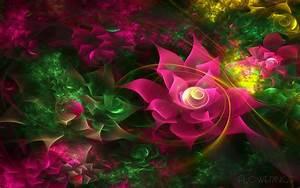 3D Abstract Flower Desktop Background HD 1920x1200 ...