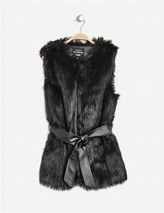Manteau Fourrure Sans Manche : veste fausse fourrure sans manches noire femme jennyfer ~ Dallasstarsshop.com Idées de Décoration