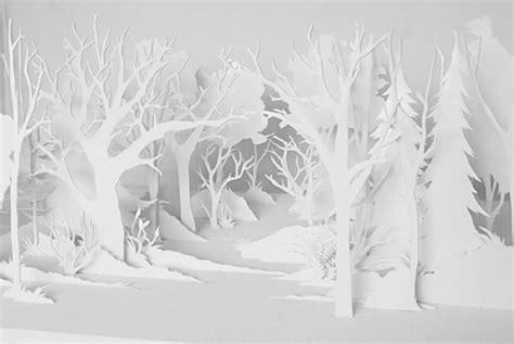 paper forest cut art xcitefunnet
