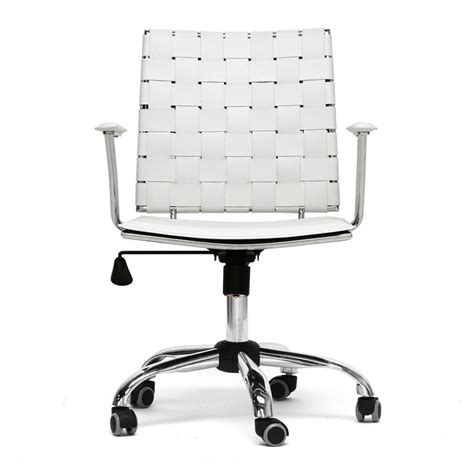 vittoria white leather modern office chair see white