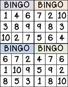 bingo for numbers 1 10 great for preschool number With bingo letters and numbers
