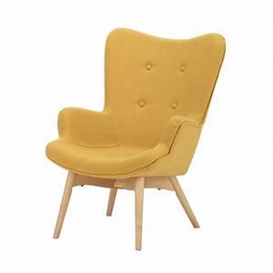 Fauteuil Scandinave Jaune : fauteuil style scandinave enfant jaune iceberg maisons ~ Melissatoandfro.com Idées de Décoration