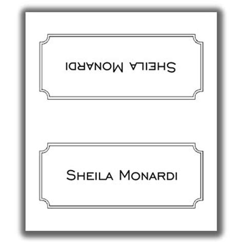 Sided Place Card Template by Place Card Template 8