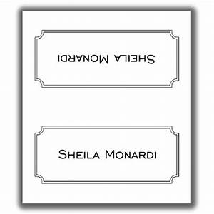 Place card template 8 for Double sided place card template