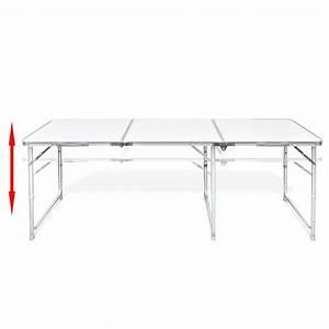 Escalier Ajustable En Hauteur : table pliante de camping en aluminium avec hauteur ~ Premium-room.com Idées de Décoration