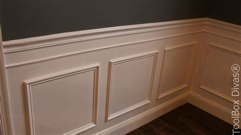 install picture frame moulding wainscoting