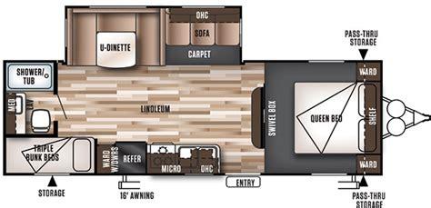 travel trailer floor plans with bunks wildwood 26tbss bunk bunkhouse travel trailer rv