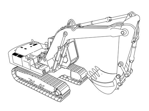 excavator coloring pages wecoloringpage coloring pages