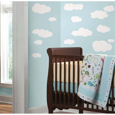 white clouds wall decals baby nursery sky stickers