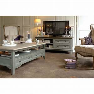 idees deco romantique idee deco shabby chic With meuble tv campagne chic