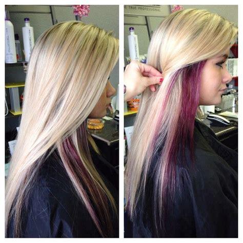 gave  blondie    highlight purple peekaboos