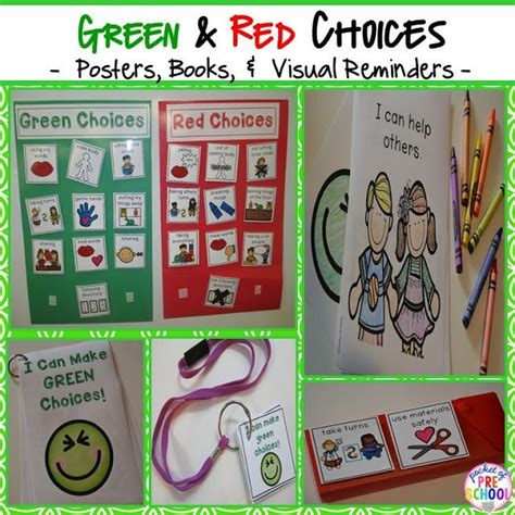 behavior supports green amp choices visual supports 427 | 6a6eba748d5a9c40673829116fbf127d preschool behavior charts preschool behavior management