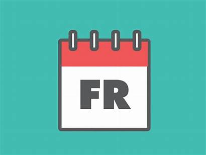 Calendar Friday Dream Dribbble Situation