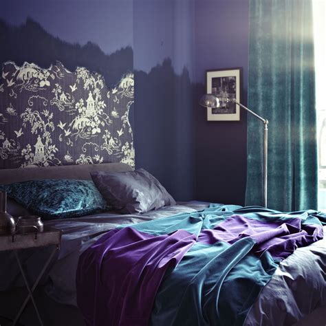 blue and purple bedroom imgkid com the image kid