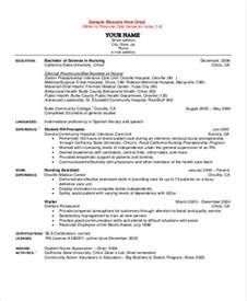Undergraduate Nursing Resume Exles by Sle Student Resume 8 Exles In Word Pdf