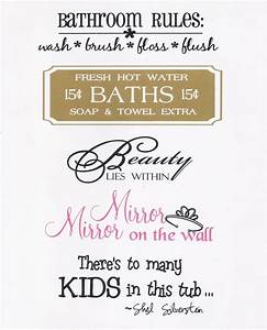 Bathroom quotes and sayings quotesgram for Cute sayings for bathroom walls