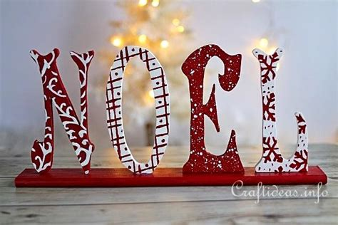 wood craft wooden noel letters decoration