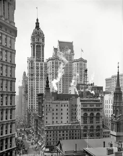 Manhattan Circa 1910 Singer Building Down Broadway From