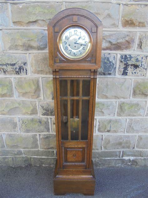 antique oak grandmother clock holgate accrington har